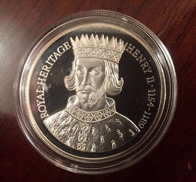 1996 FALKLAND ISLANDS Royal Heritage £2 Two Pound Henry II - Silver Proof Coin