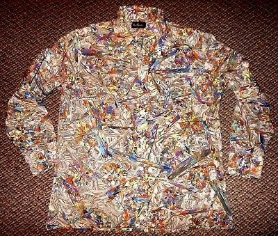 "Vintage 1960's ""Bud Berma"" Atomic *SUPER RARE UNIQUE* Rockabilly Shirt Large L"