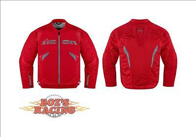 Icon Sanctuary Mens Sport Fit Jacket With Protective Armor Red
