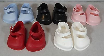 Pair Of Cinderella Doll Strap Shoes Size 01 - Various Colours *one Pair Only*
