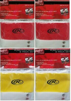 Rawlings Set of 4 Player Flag Football Kits Red/Yellow 2 Packs Belts Players