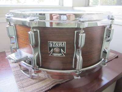 1980's TAMA 14x6.5 ROSEWOOD Snare Drum wooden bell brass HOLY GRAIL SOUND!