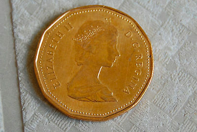1987 Canadian Loonie One Dollar Coin