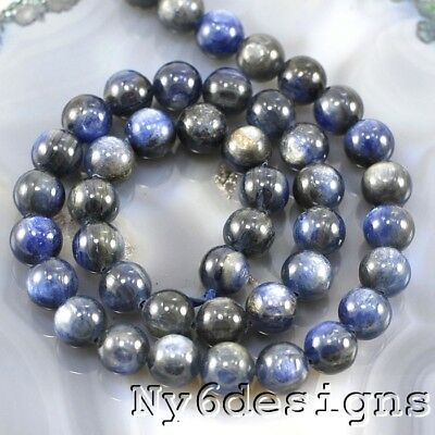 "*12x12mm Natural Blue Kyanite Space Round Beads 15"" (KY54)d for DIY Jewelry"