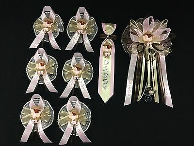 Mommy,Daddy, & Guest Corsage Set, Cowgirl, Western Country, Baby Shower