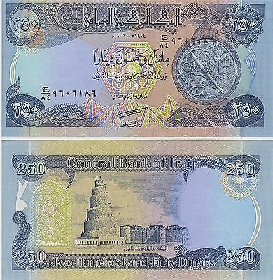 Iraq,  250 Dinars,  2003,  P 91,  Unc,  Banknote,  Middle East