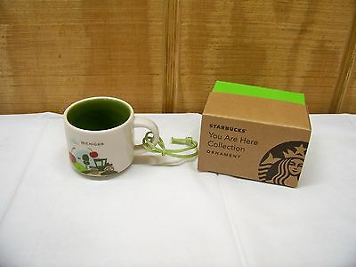 2015 Starbucks You are Here Collection Ornament Michigan Espresso Cup New