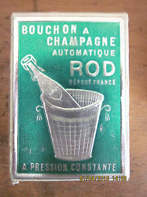 "~BOUCHON A CHAMPAGNE AUTOMATIQUE ""ROD"" Made in France Bottle Stopper in BOX~"