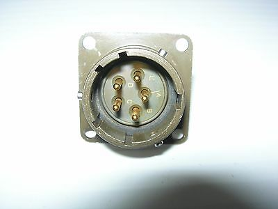Souriau 851-02E14-5P50 Circular Flange Connector 5 Pin Male 14-5 Panel Mount