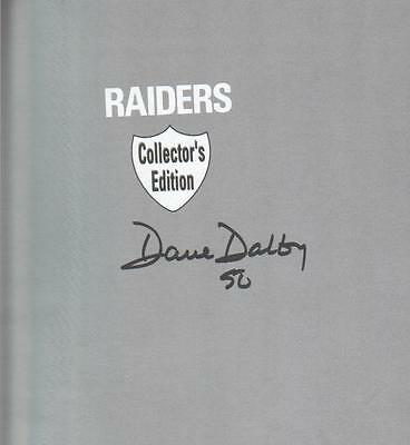 Dave Dalby Autographed 1991 Raiders Collector's Edition Book Famed D.02