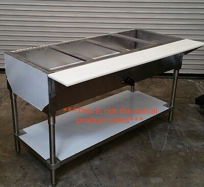 NEW 6 Well Gas Steam Table Water Bath #3396 Restaurant NSF Stainless Steel USA