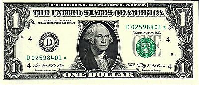 "Usa, Frn,  $1.00 * Star*  Note, 2009  P530 ""d"" Cleaveland  Unc,"