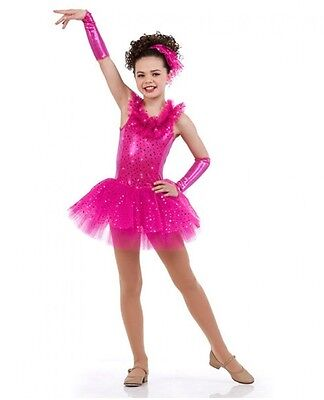 Glam Dance Costume Fuchsia 1st Performance Ballet Tutu Tap Dress Clearance