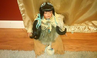 Native American Timeless Collection (?) DOLL Indian Girl 884/2500 Rare Pretty