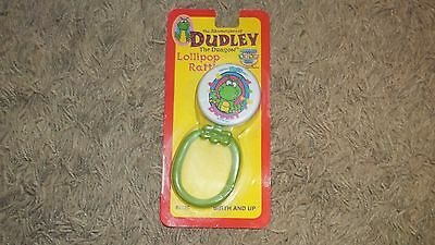 1995 DRAGON TALES Adventures Of Dudley The Dragon New Old stock LOLLIPOP RATTLE