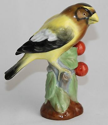 Spode Copeland Finch bird figurine vintage 5.5 in tall yellow black white