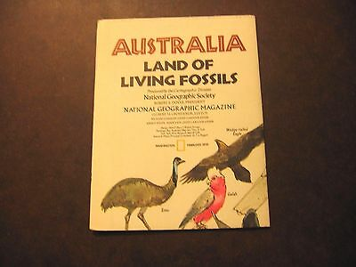 1979 Australia Land of Living Fossils National Geographic Society Reference Map
