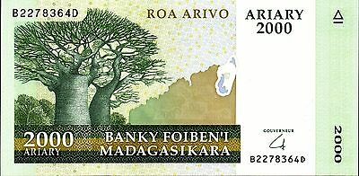 Madagascar,  2000 Ariary,  2008    P 90,  Unc,  Banknote  Africa