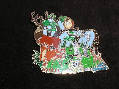 Disney Pin Disney Auctions Bambi and Cast in a Forest Clearing Jumbo Le 100
