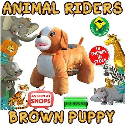 Brown Puppy - Animal Rider shopping centre rides business opportunity kids party