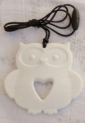 Baby Silicone Teething Necklace Nursing Jewelry White OWL Teether for Mom
