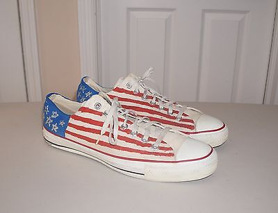Vintage Mens Converse  All Star Size 12, American Flag, Made In Usa