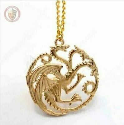 GOT Pendant & Necklace Targaryen Gold Dragon