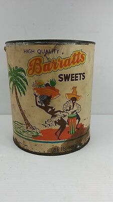 Vintage Australian made Barratts shop counter confectionary/sweets tin 8.5 Lb