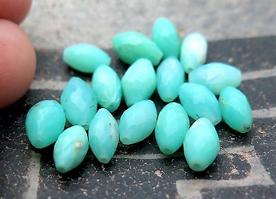 17 BRILLIANT & BEAUTIFUL OPAQUE FACETED PERUVIAN OPAL BEADS 6.10in 22.7cts