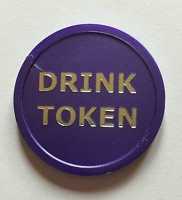 Drink Tokens Plastic - Luxury Foil Print - Bag Of 100 Xmas Party Event Wedding