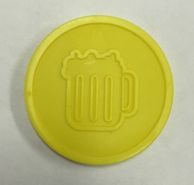 Plastic Beer Drink Tokens - Bag Of 100 - Embossed Both Sides - Party Event Fete