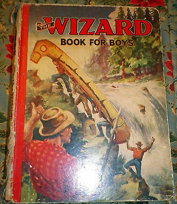 WIZARD BOOK FOR BOYS 1941 from Wizard Comic - D. C. Thomson