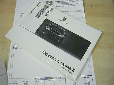 PORSCHE CAYENNE AND S  owners Manual Handbook  2003-2008 NEW OLD STOCK 2004