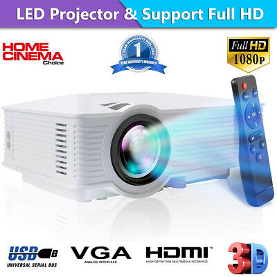 7000 Lumen Android Wifi Portable LCD Home Theater LED Projector  1080p HDMI HD