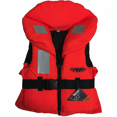 Kids 100N Approved Life Jacket Buoyancy Aid Childs Children Boys Girls Orange