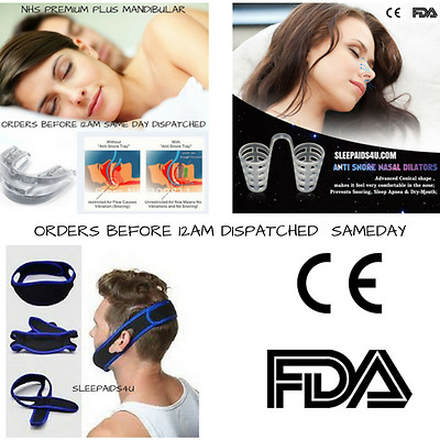 Anti Snore  Mouthpiece  Chin Strap  Nose Dilators *try Them All*