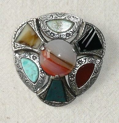 Very large Miracle brooch Celtic style with inset (faux) agates