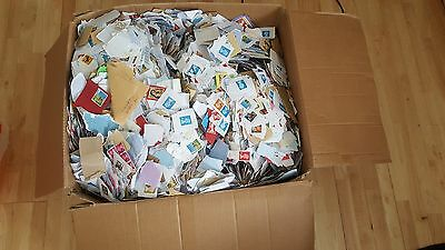 9.5 kg uk mixture kiloware stamps All Franked, No unfranked