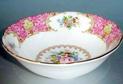 Royal Albert Lady Carlyle Cereal / Oatmeal Bowl Floral Bone China New