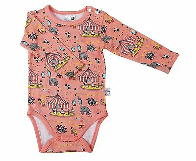 Moomin baby bodysuit CIRCUS/CORAL
