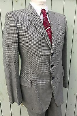 Original 1930s Burton Single Breasted Mens Suit Demob CC41 Era 1940s Goodwood 38