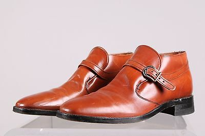 Vintage 1960's brown leather dress shoes ankle boots size 10 mens made in USA