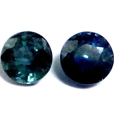 NATURAL CEYLON GREENISH BLUE SAPPHIRE LOOSE GEMSTONE (5 - 5.1 mm) ROUND SHAPE