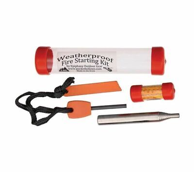 Epiphany Outdoor Gear Pocket Bellows Fire Starting Kit with Ferro Rod and Tinder