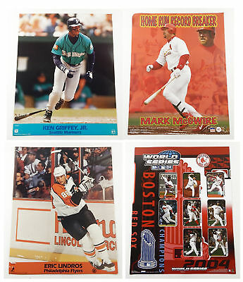 Wholesale Sports Poster Lot ^ Red Sox World Series Ken Griffey Lindros McGwire