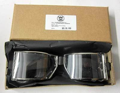 WW2 German Panzer Motorcycle Goggles Vintage aviator driving Wehrmacht New WWII