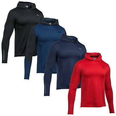 Under Armour Mens Lightweight Pullover Hoodie - Coldgear Infrared Grid Top