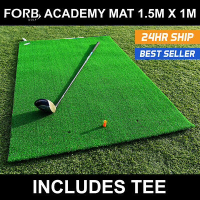 FORB Academy Roll-Up Golf Practice Mat (5ft x 3ft) Roll-up Fairway Stance & Hit