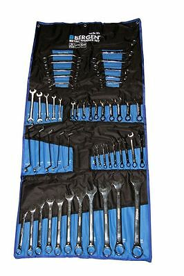 BERGEN Tools 50pc Metric Spanner Wrench Mixed Set, Stubby, Ring, Open B1970