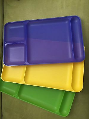 Tupperware s/3 divided trays-colors!